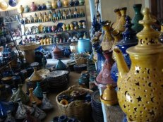 Earthenware stores maintained an element of organised chaos in the souk