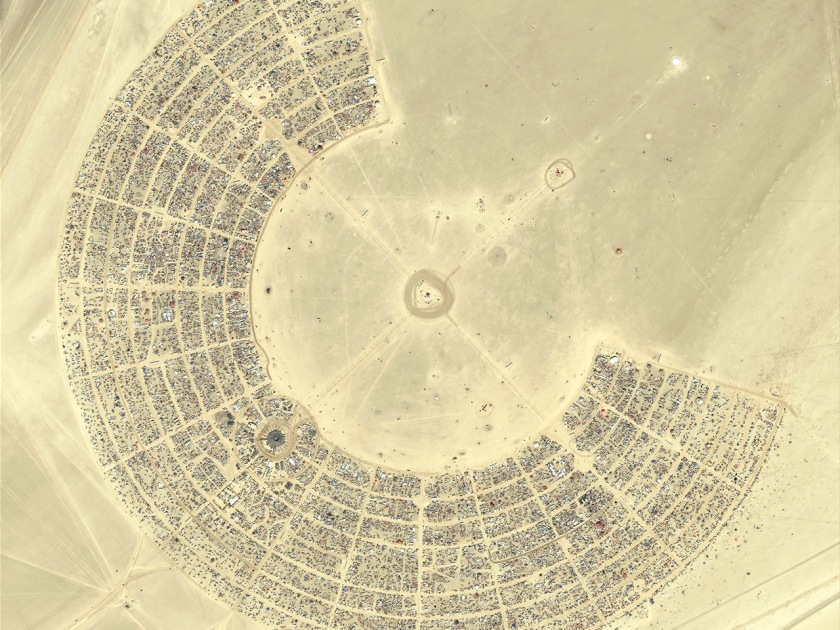 Burning Man from above