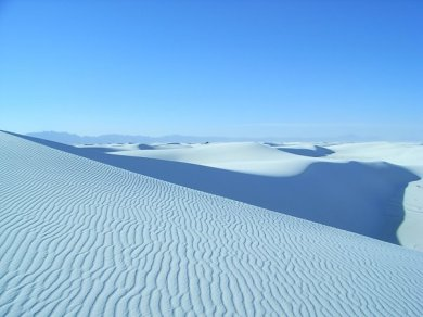 As gypsum sand packs quite solid it creates beautiful ripple formations