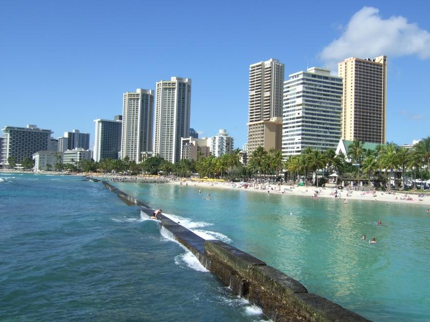 Waikiki Bay by day