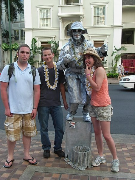 Posing in Honolulu before the adventure