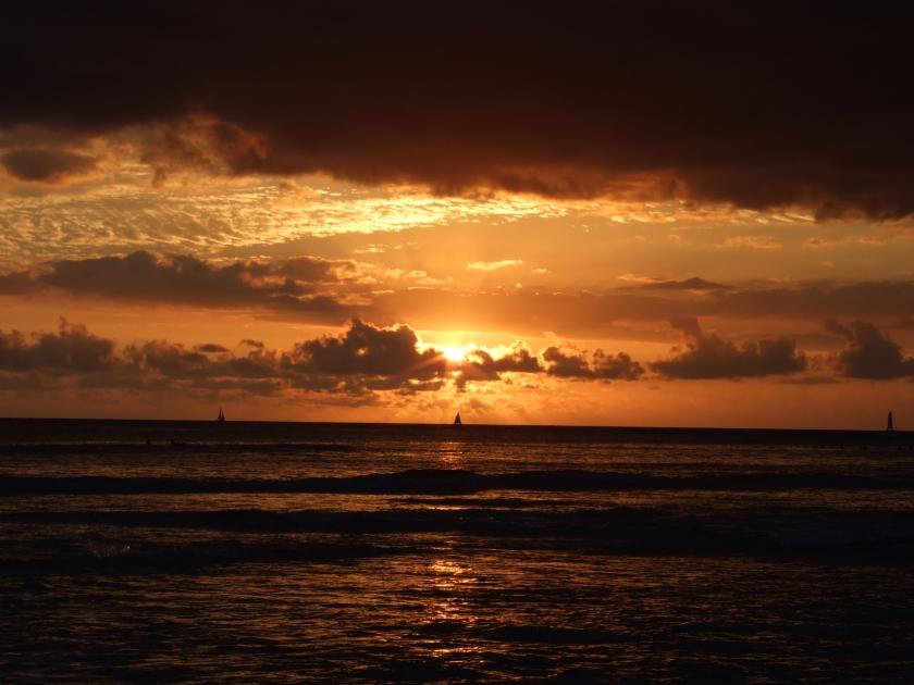 Waikiki Bay Sunset