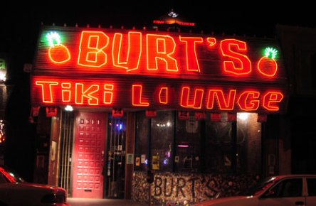 Burt's at night