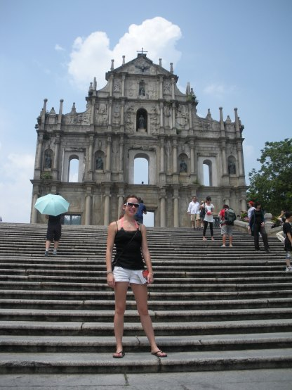 Outside the Macau ruins
