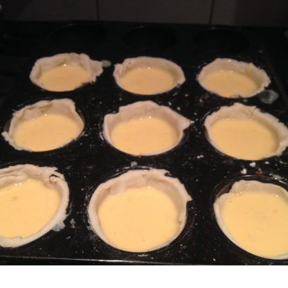 Pour mix into pastry cases