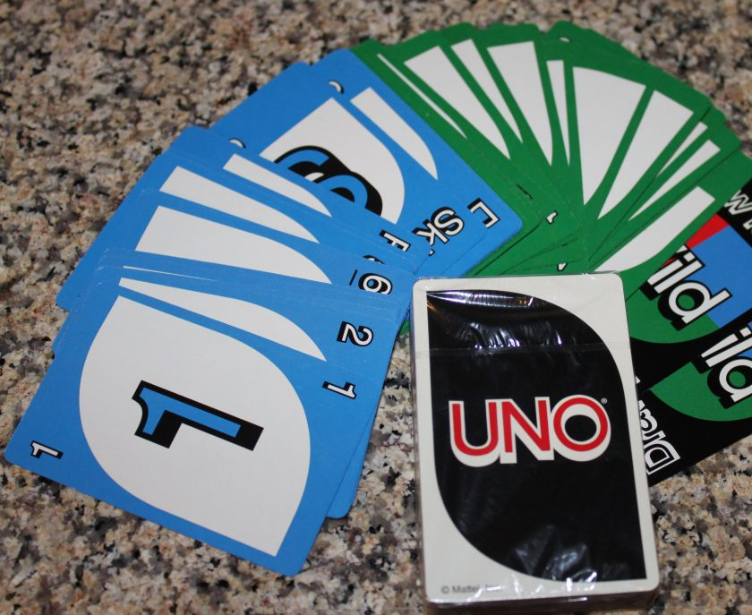 Uno on the train