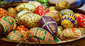 Beautifully detailed eggs, filled with Fazer classics
