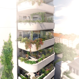 Farming balconies for residents of the Greenhouse