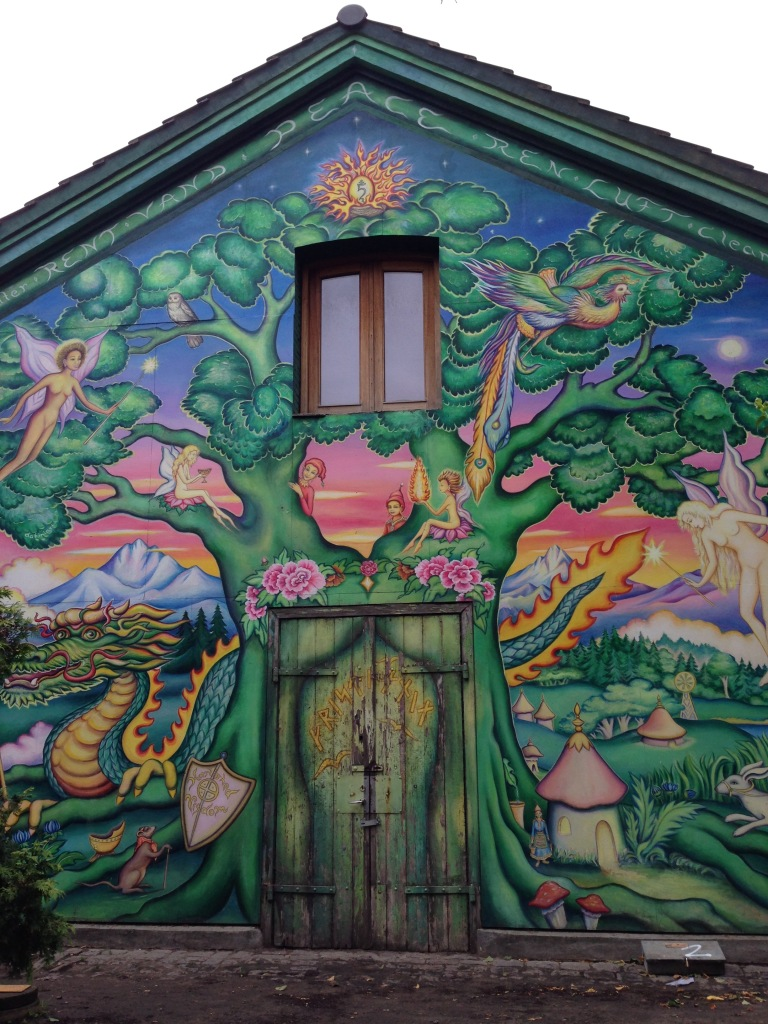 Graffiti, or important street art? It's important to look at Christiania from the right angle
