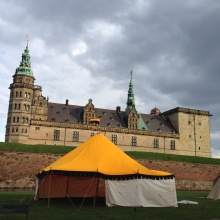 Kronborg Castle and the yellow tent