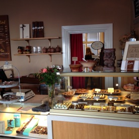 Bridgit - the owner - hard at work in her chocolate shop