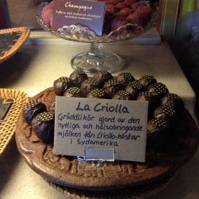 The signature criolla truffles - Criollo Chocolaterie, Malmo Sweden