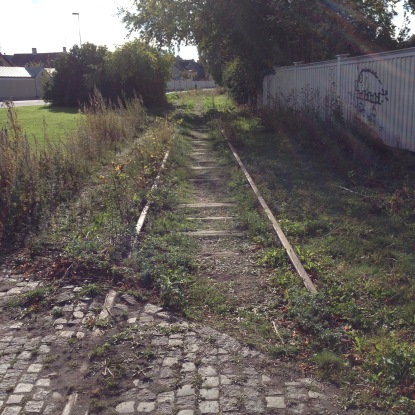 Abandoned railway tracks are a common sight in Malmo