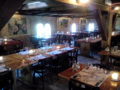 Spieseloppen restaurant has a medieval feel to it