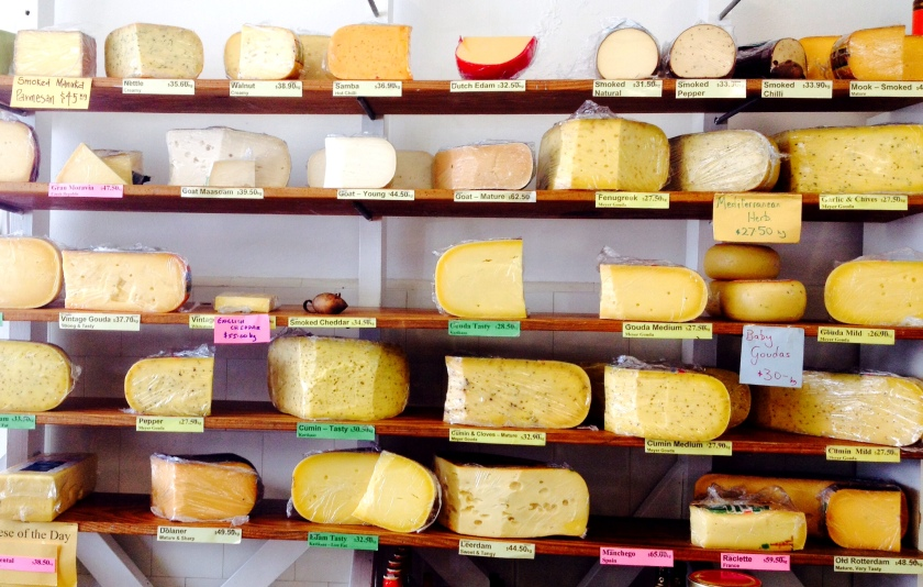 A fine selection of cheeses...