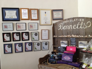 The Awards Wall at Bennett's