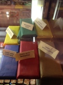 Large solid chocolate bars from Kehrwieder Cafe