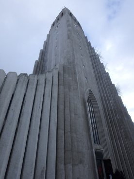 Approaching Hallgrims' Church