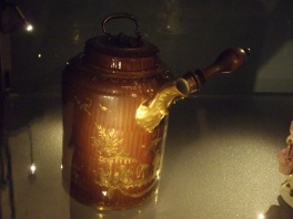 A chocolate pouring jug from 18th Century - Schokolade Museum, Cologne