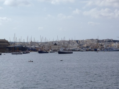 A huddle of fishing boats in the harbour