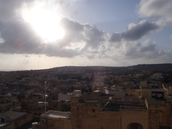 View from atop the Citadella in Victoria, Gozo