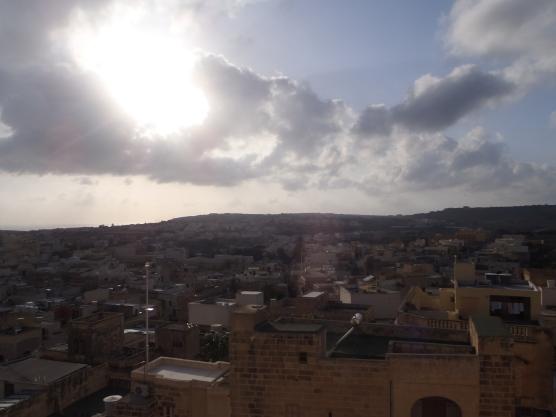 View from atop the Citadella in Victoria, Gozo