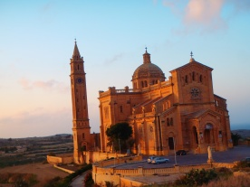 Ta Pinu Cathedral is pretty much in the middle of nowhere