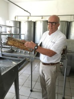 One of the founding members of Ingemann explains the process of honey production