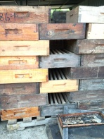 Old wooden hives