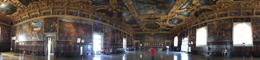 The Doge's hall - so big you can't fit it all in a panorama!