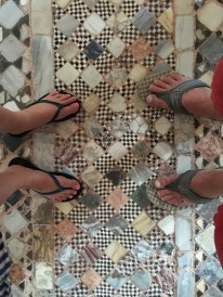 Old Byzantine mosaic floor